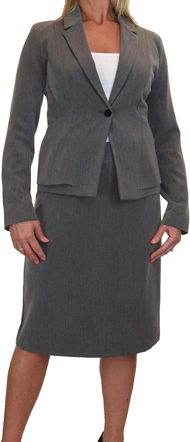 Icecoolfashion Smart Business Jacket Skirt Suit Lined Washable 618