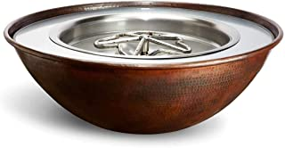 HPC Fire Hearth Products Controls Tempe Copper Fire Pit Bowl (TEMP31-EI-LP-24VAC), Electronic Ignition, Propane, 24VAC, 31-Inch
