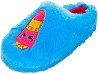Shopkins Girls Plush Round Toe Embroidered Character Slip On Clogs (See More Designs Sizes)