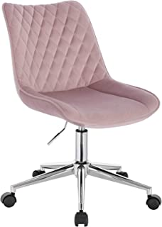 WOLTU BS119rs Chaise de Bureau Tabouret de Bureau Pivotant 360°,Tabouret à roulettes Réglable en Hauteur Surface en Velour...