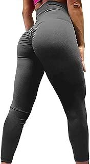 Women Scrunch Butt Yoga Leggings with Pockets Butt Lift Booty Leggings Tummy Control Workout Pants Flattering Gym Tight