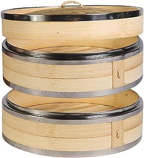 Hcooker 2 Capas Vaporizador de Bambú para Cocina con Doble