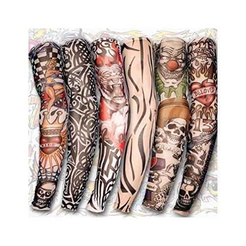 DeliaWinterfel 6 Styles Faux Bras Manchons Tatouages, en Nylon, Costume, Stretch- Robe by