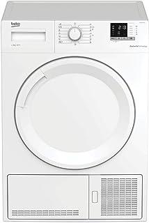 BEKO DHS 8412 PA0 - Secadora (Independiente, Carga frontal, Bomba de calor, Blanco, Botones, Giratorio, 102 L)
