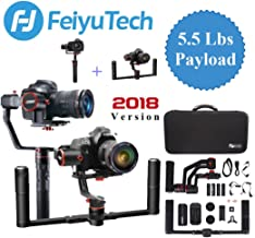 Feiyu a2000 Gimbal with Dual Grip Handle Kit for DSLR Camera, (2018 Ver) Foldable Handle,Compatible with Nikon/Canon Series Camera and Lens,2.5 Kg Payload. Carrying Case Included