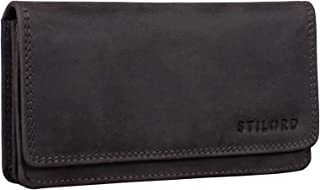 STILORD 'Lotta' Vintage Cartera de Cuero para Mujeres RFID Protector Monedero Femenino Billetera Señora para Tarjetas Bill...