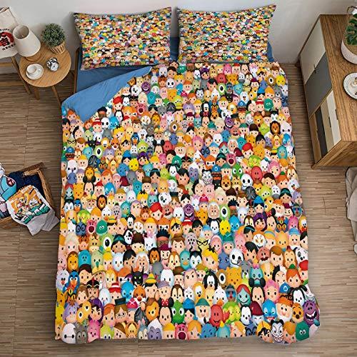 XKNSYMRL Bettzeug 135X200 Set, Donald Duck 3D Digitaldruck Kinder Tagesdecke, Premium Polyester Baumwolle Einfache Pflegee Bettbezüge Und Kissenbezug, Für Erwachsene (240X260Cm)