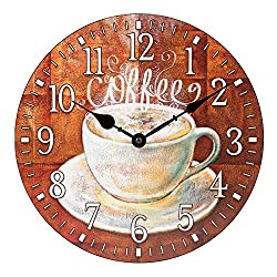 La Crosse Technology 404-2631C La Crosse 12 inch Round Coffee Décor Analog Wall Clock