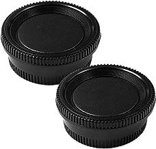 Camera Body Cap and Lens Rear Cap Cover Replacement Set for All Nikon DSLR Cameras D850 D810 D750 D7200 D610 D7100 D5300 D7000 D800 D5 D7500,2 Sets