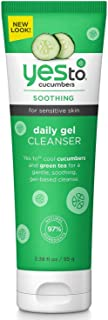 Yes To Cucumbers Soothing Daily Gel Cleanser for Sensitive Skin, 3.38 Ounce