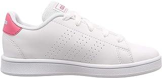 adidas Advantage, Unisex Kids' Shoes, White (Ftwr White/Real Pink S18/Ftwr White), 2.5 UK (35 EU)