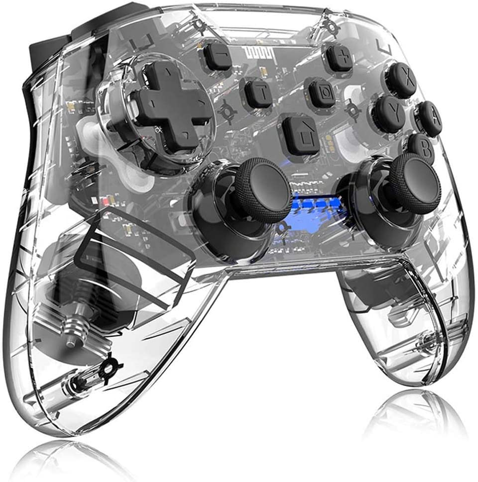 ZXZS Transparent Game Max 67% OFF Handle Connection Controlle Bluetooth San Jose Mall
