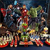 Avengers Background   Marvel Backdrop   Superhero   Birthday   For Boys   Party Supplies   Kids   Banner   Photography Decorations