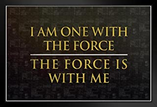 Poster Foundry ProFrames I Am One with The Force The Force is with Me Movie 20x14 inches Black 180061