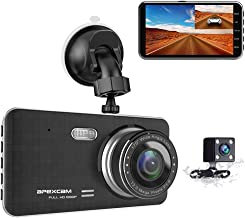 "Dash Cam for Car 4"" 1080P HD Dashboard Camera 170°Wide-Angle Driving Recorder with Backup Camera,G-Sensor WDR Loop Recording DVR Parking Monitor Night Vision Motion Detection [2020 New Version]"