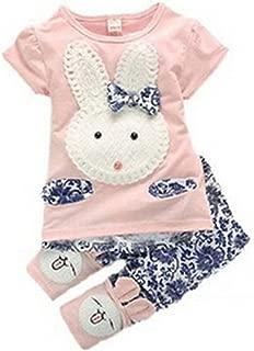 Baby Kids Girls Boys Toddlers Cute Rabbit Top+short Pants Set Clothes 2pc Suit