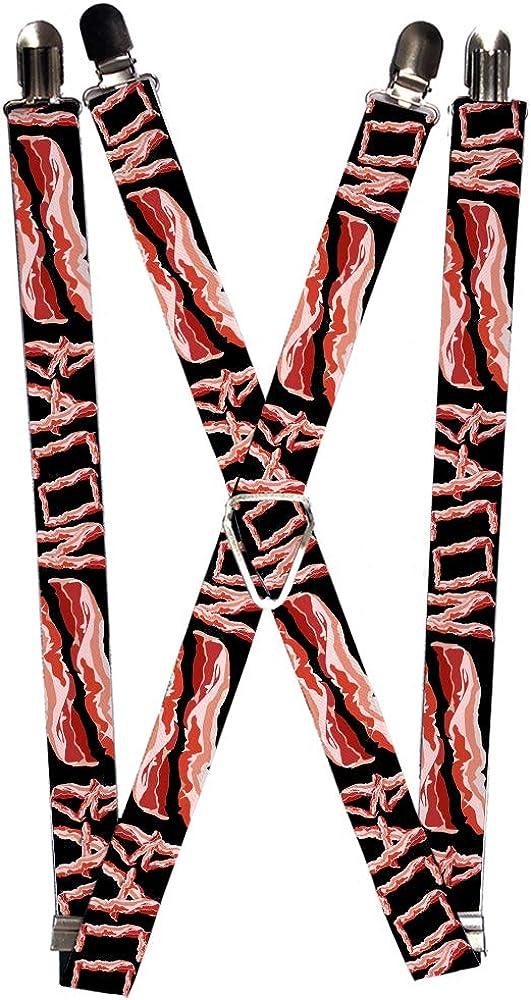 Buckle-Down Men's Suspender-Bacon, Multicolor, One Size