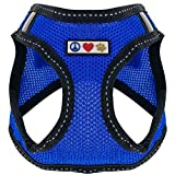 Pawtitas Pet Reflective Mesh Dog Harness, Step in or Vest Harness, Comfort Control, Training Walking of Your Puppy / Dog S Small Blue Dog Harness