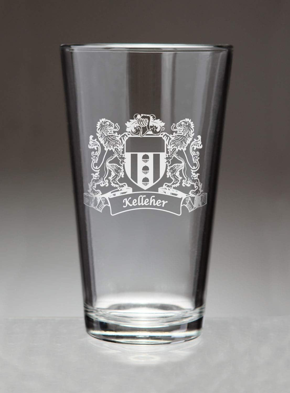 Kelleher Irish Coat of Arms trend Popular brand rank Etched Pint Sand Glasses