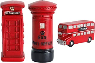 Creative Retro European Resin Figurine Red Resin Ornaments for Home Cafe Bar Window Decoration Children Toys and Gift (Including Telephone Booth, Postbox, Bus)