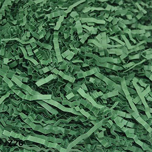 Hyzb 100 g/Bolsa Papel Artesanía Papel Rafia Crodolly Rinked Body Party Decor Suplementos de Papel Confeti Regalos/Caja Material de llenado (Color : Z26)