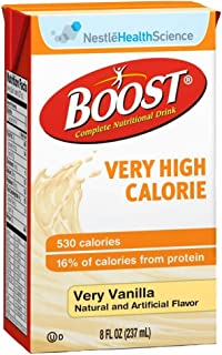Boost VHC - 4 Case Special - Vanilla, Very High Calorie 8 oz. Case of 27 by Nestle Nutrition