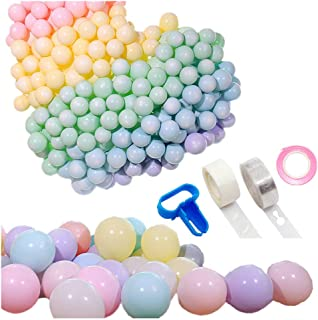 B&S FEEL 104 Pcs Pastel Balloons 10 Inch with Balloon Arch Kit for Birthday Unicorn Party Baby Shower