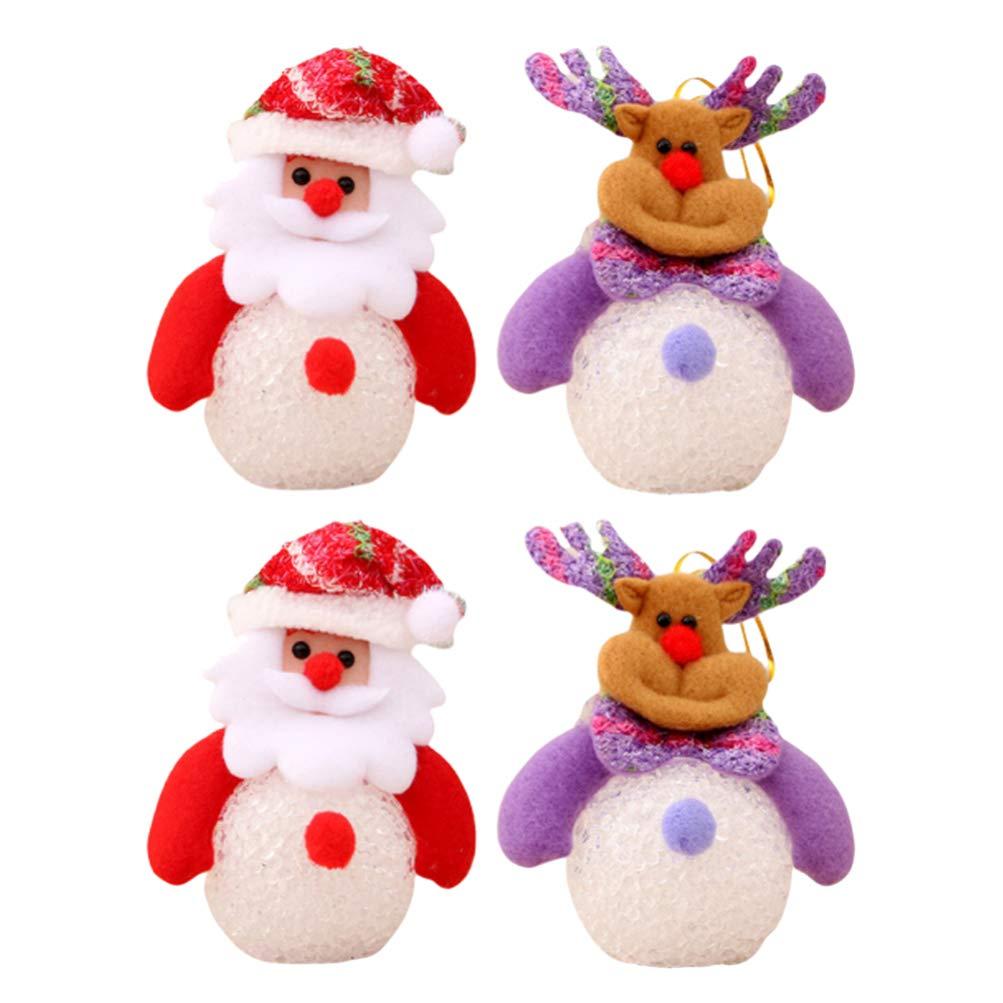 Decorazioni natalizie 10cm Peluche Peluche Uomo Soft Toy con arco rosa Natale Soft Toys