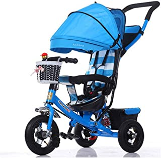 Children's Tricycle Baby Balance Bikes Bike Bicycle Children Walker Tricycle With Push Handle And Toy Sand Bucket Toddler Stroll And Ride Trike 3 Wheels Toddler Bike For 6 Months-6 Years Old Kids Kids