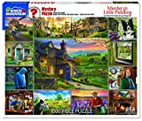 White Mountain Puzzles Murder in Little Piddling - 1000 Piece Jigsaw Puzzle and Murder Mystery
