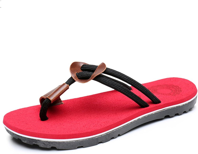 DYFYMX Fashion Casual Beach shoes, Flat Slippers, Male Adult Sandals. Fashion A, Size   EU40 UK7 CN41