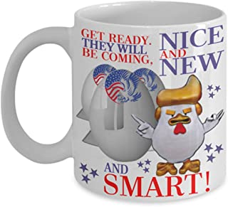 Get Ready Nice New Smart Donald Trump Missile Tweet Coffee Mug Gift Funny Chicke