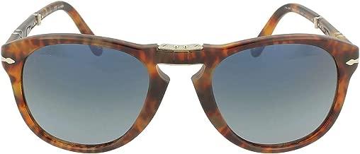 Persol PO0714SM Steve McQueen Sunglasses 108/S3 Cafe/Blue Gradient Dark Blue Polar Lens 54mm