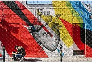 2000 قطع من الإجهاد تخفيف جدار الكتابة على الجدران تصميم الألغاز الفن، والألغاز الكلاسيكية الخشبية، والألعاب التعليمية للب...