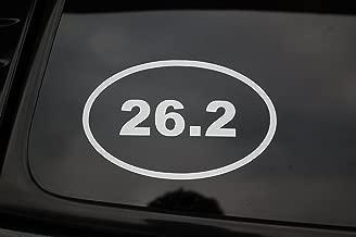 Five Star Graphics 26.2 Oval Marathon Mens Womens Vinyl Sticker Decal (V149) Jogging Running Run (White)