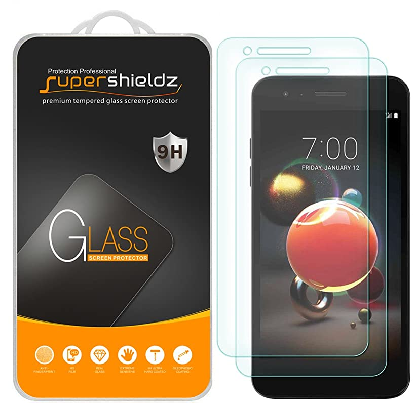 [2-Pack] Supershieldz for LG (Rebel 4) 4G LTE Tempered Glass Screen Protector, Anti-Scratch, Bubble Free, Lifetime Replacement