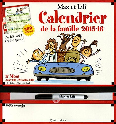 Calendrier de la Famille Max et Lili 2015-2016
