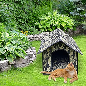 Abri portable pour animaux de compagnie pour chat et chien, tente de villa pour chat imperméable pliable, maison chaude pour animal de compagnie pour chien chat automne hiver abri extérieur/intérieur