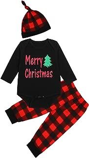 christmas plaid baby onesie