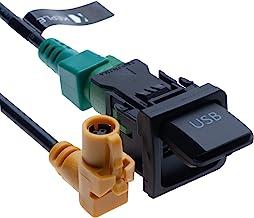 Keple USB-omkopplare och anslutande kabelsele RCD510 RNS315 kompatibel med VW Volkswagen Bora Polo Jetta MK5 F R7X9 kanin ...