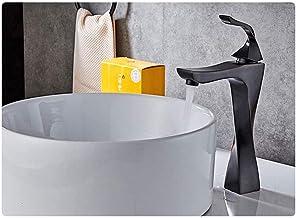 Kitchen Sink Faucet, Bathroom Taps All Copper Ceramic Valve Spool Rustproof Resist Corrosion Lead-free Nickel-free Matte B...