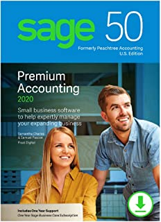 Sage 50 Premium Accounting 2020 U.S. 1-User [PC Download]