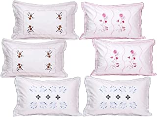 "IVAZA Collection Cotton Pillow Cover - 18""x28"", Set of 6, Multicolor"