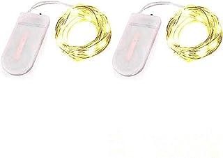 Bethlehem Lighting 2 Pack Fairy String Lights Battery Operated Fairy Lights Starry String Lights on 10ft/3m Silvery Copper...