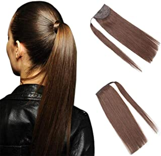 100g Long Straight Wrap around Ponytail Extensions Clip in Ponytail Hair Extensions Hairpiece for Black Women By Remeehi 18 inch 18#