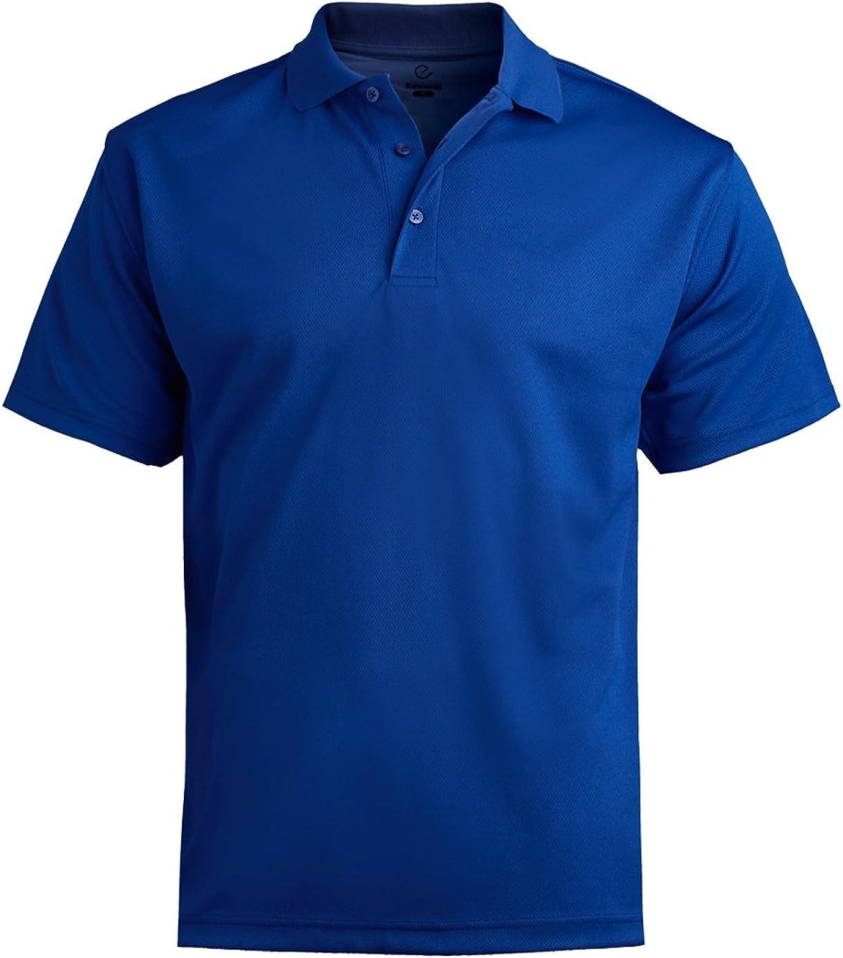 Edwards Garment Men's Big And Tall Dry-Mesh Hi-Performance Polo Shirt_ROYAL_6XLT