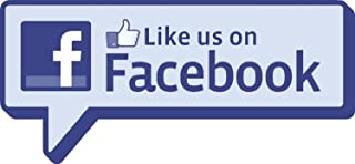 Find us on Facebook personalised stickers 29cm wide qty of 2