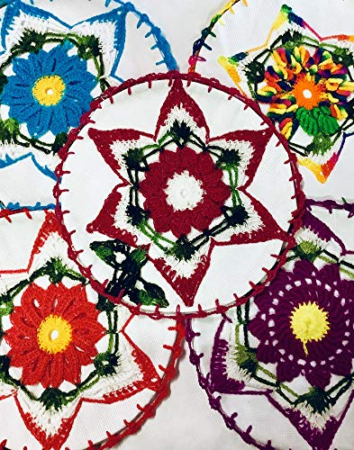Embroidered Cloth Napkins for Tortillas | Servilletas De Tela Bordadas para Tortillas (6)