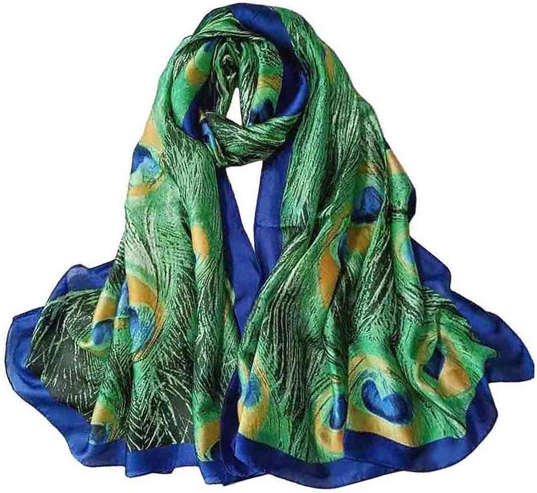 Acotavie Scarfs for Women Fashion Scarves Long Satin Silk Feeling Scarf Lightweight Sunscreen Shawls