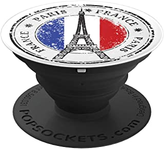 Paris, France Eiffel Tower, French Flag - PopSockets Grip and Stand for Phones and Tablets
